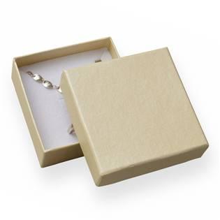 Dárková krabička na soupravu šperků - perleťově krémová