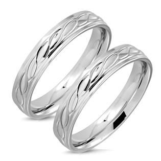 OPR0103 Ocelový snubní prsten