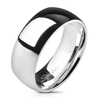 TT1025 Pánský snubní prsten titan, šíře 8 mm