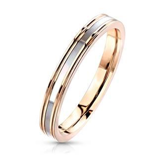 Ocelový prsten s perletí OPR1766