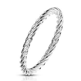 Ocelový prsten kroucený OPR1768