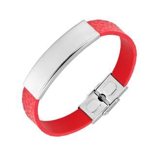 Červený kožený náramek NR1231R