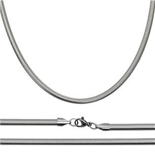 Ocelový řetízek had plochý š. 4 mm OPE1096-040