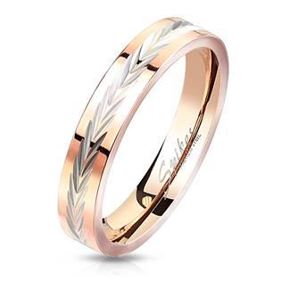 Zlacený ocelový prsten, vel. 55