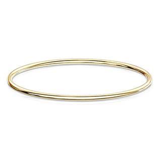 Kulatý ocelový náramek zlacený OPA1543-GD