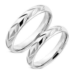 Snubní prsten z chirurgické oceli NSS3002