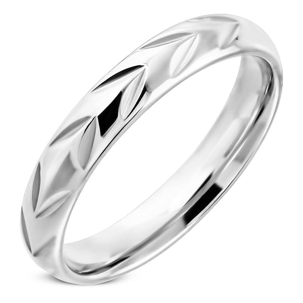 NSS3002 Dámsky snubný prsteň oceľ