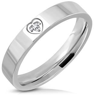 NSS3004-ZR Dámský snubní prsten se srdíčkem