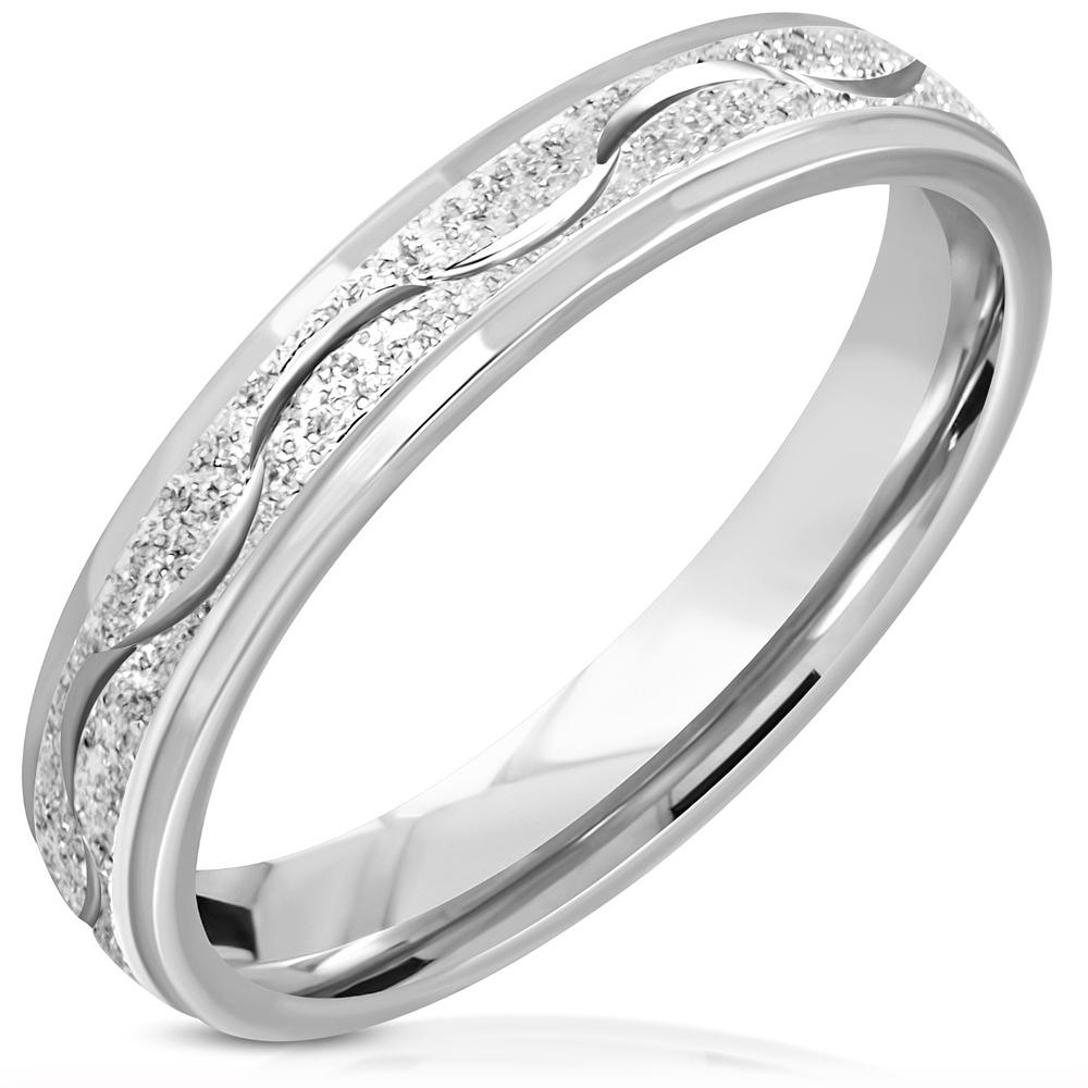 NSS3003 Pánsky snubný prsteň oceľ