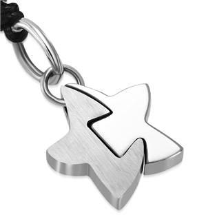 Náhrdelník s ocelovou hvězdou