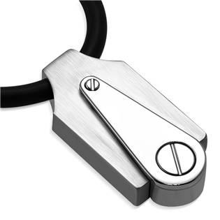 Ocelový náhrdelník s geometrickým přívěškem