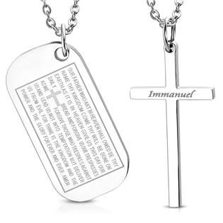 2 kusy přívěšků s motivem kříže