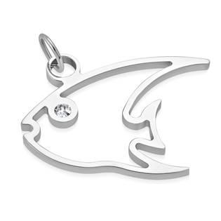 Ocelový přívěšek - mořská rybka