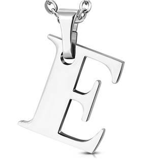 Ocelový přívěšek - iniciála E