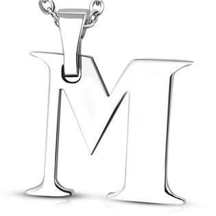 Ocelový přívěšek - iniciála M
