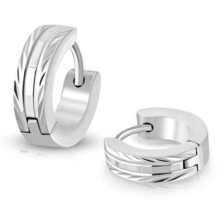 Ocelové náušnice kroužky OPN1023-ST
