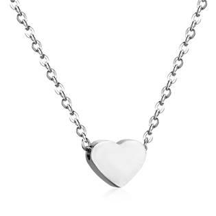 OPD0166-ST Ocelový řetízek s přívěškem srdce