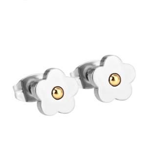Ocelové náušnice kytičky OPN1060-03