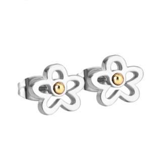 Ocelové náušnice kytičky OPN1060-04