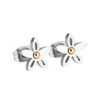 Ocelové náušnice kytičky OPN1060-06
