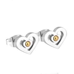 Ocelové náušnice srdíčka OPN1064-01