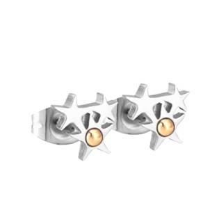 Ocelové náušnice hvězdičky