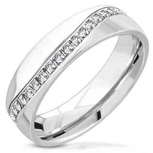 Ocelový prsten se zirkonem OPR1788