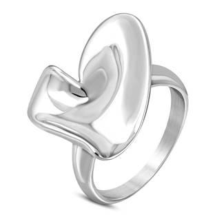 """Ocelový prsten """"srdce"""" vel. 52"""