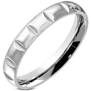 Ocelový prsten, šíře 5 mm, vel. 52
