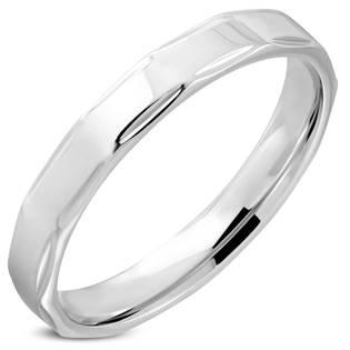 Ocelový prsten lesklý, šíře 4 mm, vel. 70