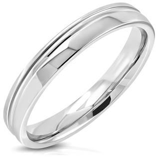 Ocelový prsten, šíře 4 mm, vel. 52