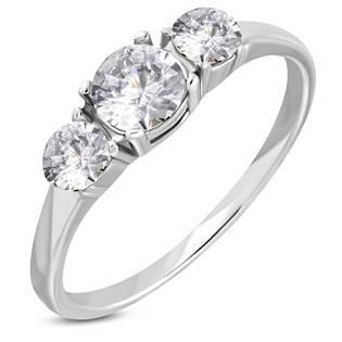 Ocelový prsten se zirkony OPR1775