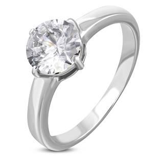 Ocelový prsten se zirkonem OPR1776