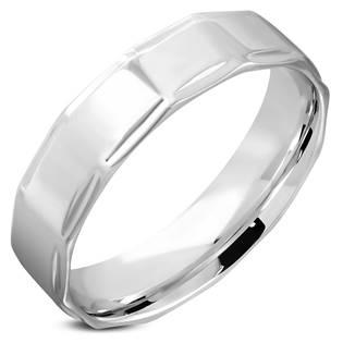 Ocelový prsten lesklý, šíře 6 mm, vel. 52