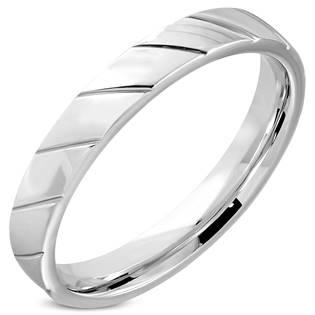Ocelový prsten, šíře 4 mm, vel. 49