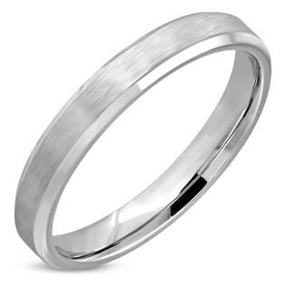 OPR1815-4 Ocelový prsten matný, šíře 4 mm