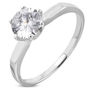 Ocelový prsten se zirkonem OPR1777