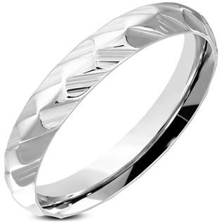 Ocelový prsten šíře 4 mm OPR1814-4