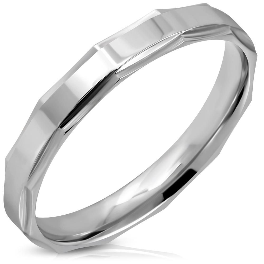 NSS3007 Pánsky snubný oceľový prsteň
