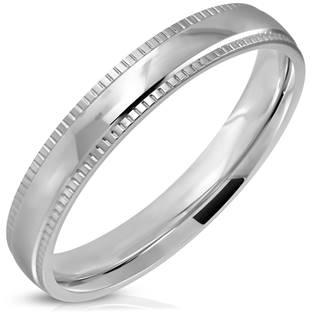 Ocelový prsten šíře 4 mm, vel. 52