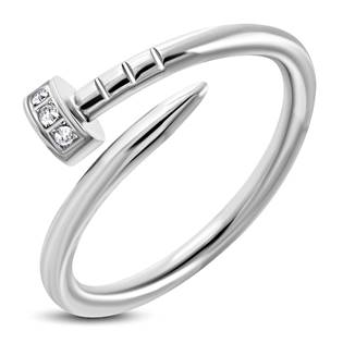 """Ocelový prsten """"hřebík"""" vel. 50"""