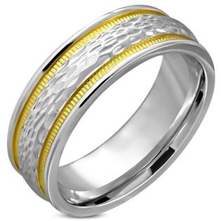 Ocelový prsten, šíře 8 mm, vel. 57