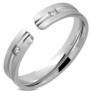 Ocelový prsten se zirkony OPR1781