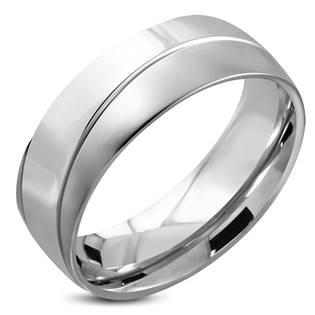Ocelový prsten lesklý, šíře 8 mm, vel. 51