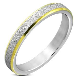 Pískovaný ocelový prsten, šíře 3,5 mm, vel. 49