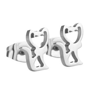 Ocelové náušnice kočičky