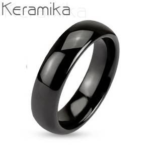 KM1000-6 Pánský keramický prsten, šíře 6 mm