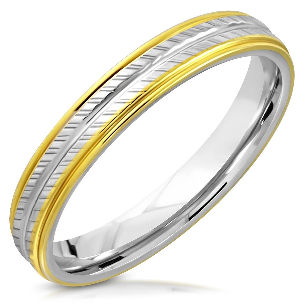 NSS3006 Pánsky snubný prsteň oceľ