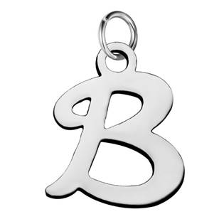 Ocelový přívěšek - iniciála B