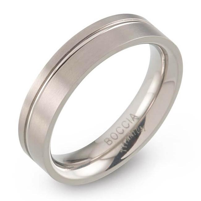 B0149-01 Pánsky titánový prsteň Boccia